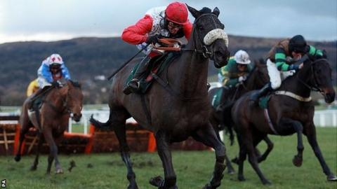 Big Buck's loses to Knockara Beau (right)