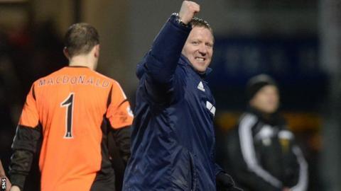 Hearts manager Gary Locke