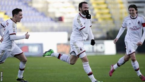 Cagliari v AC Milan - Giampaolo Pazzini