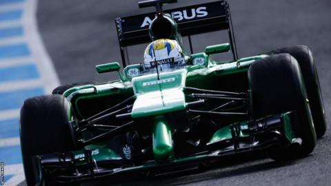 Marcus Ericsson of Sweden and Caterham drives the new CT05 during day two at Jerez