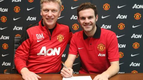 Manchester United's David Moyes signs Juan Mata