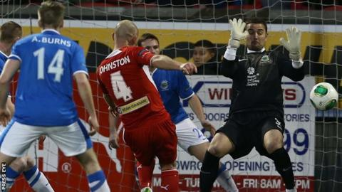 Cliftonville beat Linfield 3-0 at Solitude in November 2013