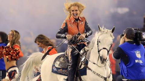 Thunder the horse, mascot of the Denver Broncos