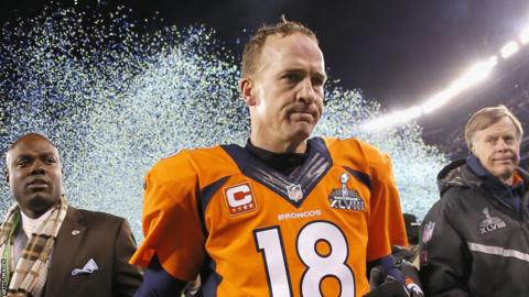 Peyton Manning of the Denver Broncos