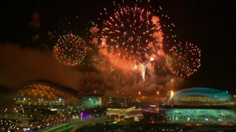 Fireworks over the Olympic park