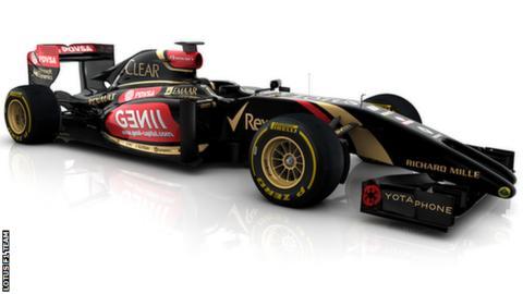 The Lotus 2014 F1 car