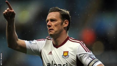 West Ham midfielder Kevin Nolan
