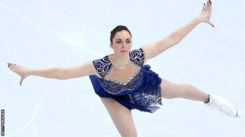 Jenna McCorkell in action in Sochi