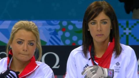 GB curling captain Eve Muirhead (right)