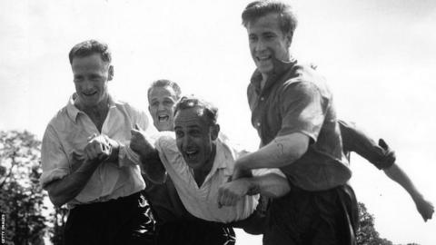 England training in 1958
