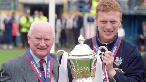 Sir Tom Finney and David Moyes