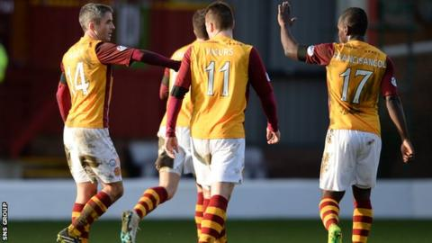 Motherwell beat Partick Thistle 4-3 at Fir Park