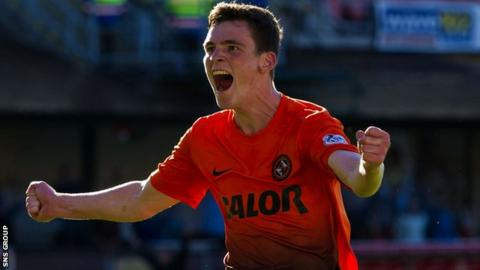 Dundee United left-back Andrew Robertson