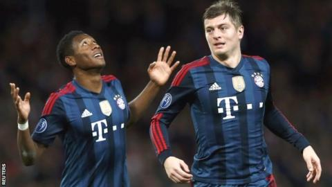 David Alaba and Toni Kroos