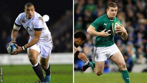 Luther Burrell and Brian O'Driscoll