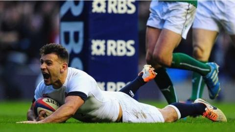 Danny Care scores a try for England in their victory over Ireland