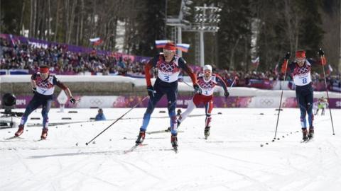 Russia's Alexander Legkov wins gold in men's 50km mass start