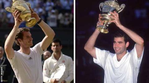 Andy Murray and Pete Sampras