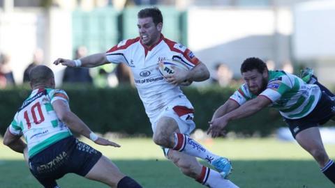 Darren Cave in action against Treviso