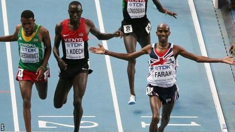 Mo Farah wins in Moscow