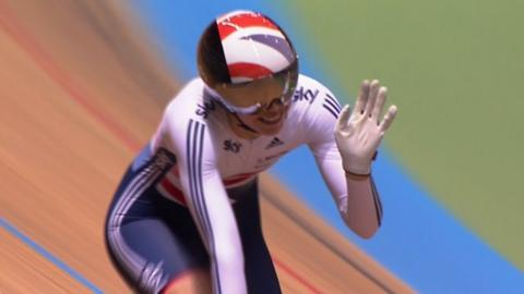 Becky James wins bronze in the women's team sprint at the World Track Cycling championships