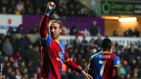 Glenn Murray celebrates scoring for Crystal Palace