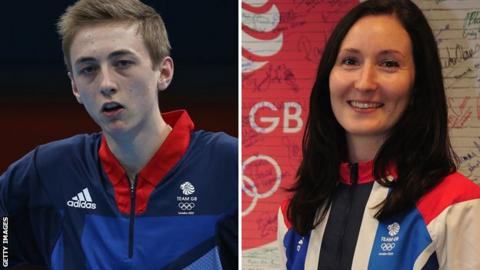Liam Pitchford (left) and Joanna Drinkhall