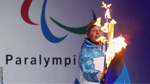 The Paralympic flame is lit at Stoke Mandeville