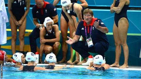 Team GB's water polo team at the London 2012 Olympics
