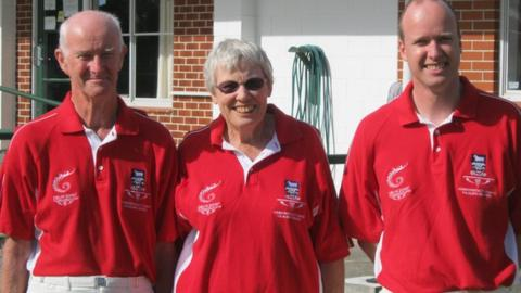 Gerald (left), Shirley and Michael Reive will compete in Glasgow this summer.
