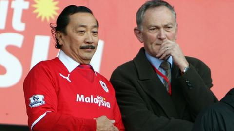 Vincent Tan and Richard Scudamore