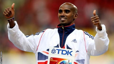 Double Olympic champion Mo Farah