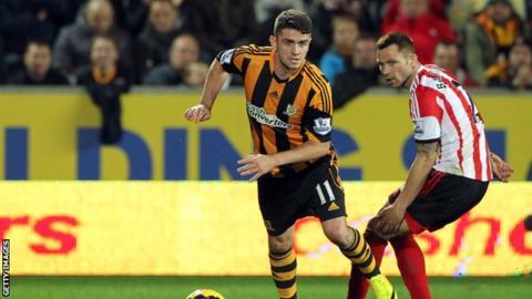 Hull City midfielder Robbie Brady