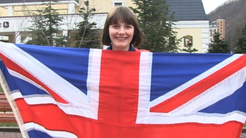 Great Britain's Paralympic flagbearer Millie Knight
