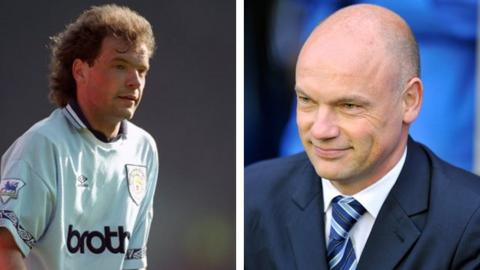 Uwe Rosler in 1994 and 2014