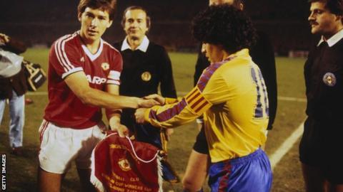 Manchester United v Barcelona - 1984