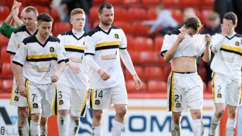 Dejected Dumbarton players