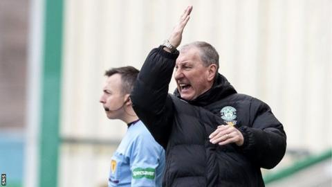 Hibs boss Terry Butcher