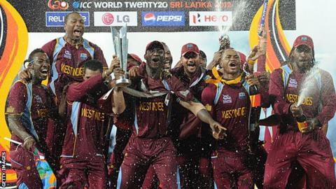 West Indies celebrate winning the World Twenty20 in 2012