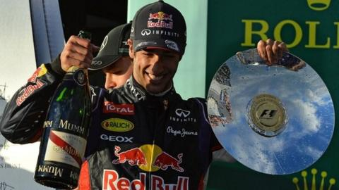 Red Bull's Daniel Ricciardo excluded from second place in Australia