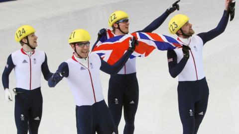 GB men win bronze in the 5000m relay