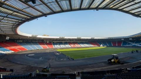 Hampden Park will host the athletics