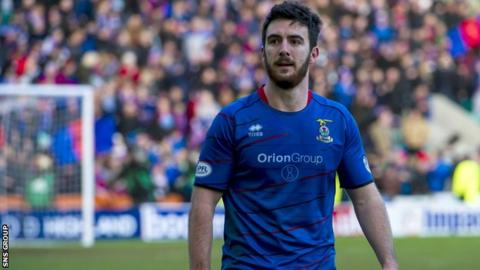 Inverness midfielder Ross Draper