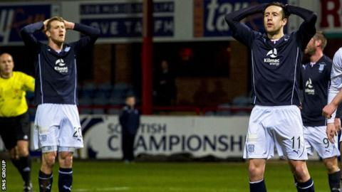 Dundee could not find a way past Raith Rovers at Dens Park