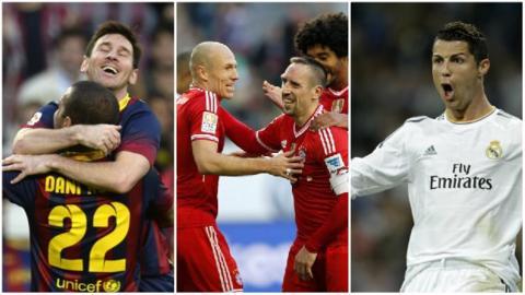 Messi, Ribery, Robben, Ronaldo
