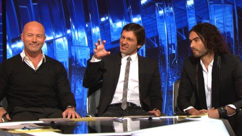 Alan Shearer, Leonardo and Russell Brand debate Wayne Rooney's goal on Match of the Day