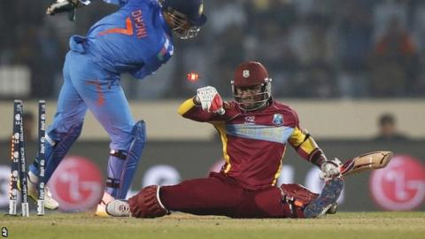 World Twenty20 2014: India see off West Indies in Mirpur - BBC Sport