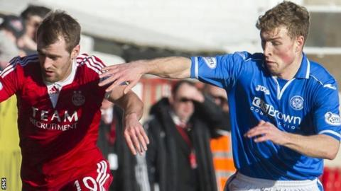 Aberdeen's Niall McGinn and St Johnstone's David Wotherspoon