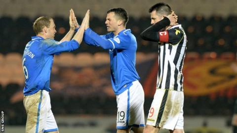 St Mirren lost 1-0 at home to St Johnstone