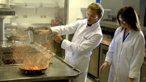 Nico Rosberg explains the physics of a turbo engine to BBC Sport's Lee McKenzie